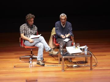 Conference. Michael Hardt and Antonio Negri. Crisis and Possible Revolutions, October 6, 2011. Nouvel Building, Auditorium 400