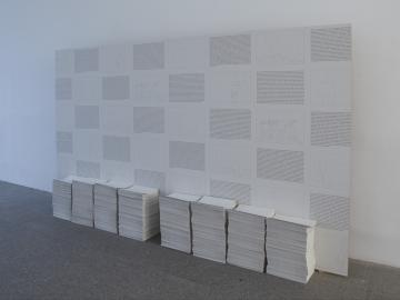 Exhibition view. Sharon Hayes, Habla, 2012