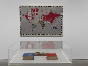 Exhibition view. alighiero boetti. game plan, 2011
