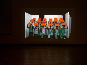 Vista de sala de la exposición. Gabriel Acevedo. Ciudadano Paranormal, 2013