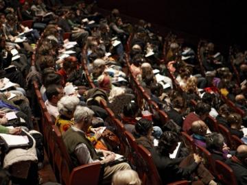 Vista del Auditorio 400 en el Edificio Nouvel del Museo Reina Sofía
