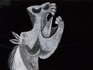 Cabeza de caballo. Boceto para «Guernica». Pablo Picasso