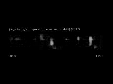 Jorge Haro. Blur spaces [MNCARS sound drift], 2013