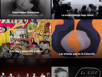 Captura del microsite Fuera del canon. Las artistas pop en la Colección