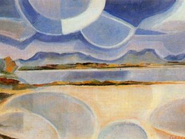 Rafael Barradas. Paisaje vibracionista. 1918. Galería Guillermo de Osma, Madrid.