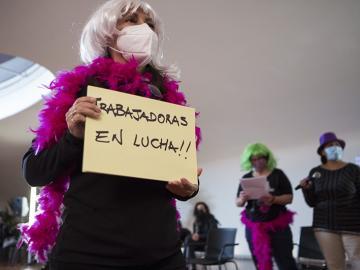 """Elvira Megías, Jornadas de """"El feminismo sindicalista que viene. Trabajadoras somos todas"""", Madrid, 2020"""